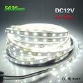 Alto brilho DC12V 5 M 300LED SMD5630 5730 LED Strip Fita levou corda Fita fita faixa de led Neon light para o Natal decoração