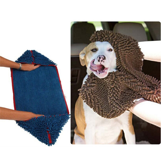 Dog Supplies Dog Bath Dry Towel With Hand Pockets Durable Quick Drying Washable Prevent Mud Dirt Dog Towels Pet Products 979645