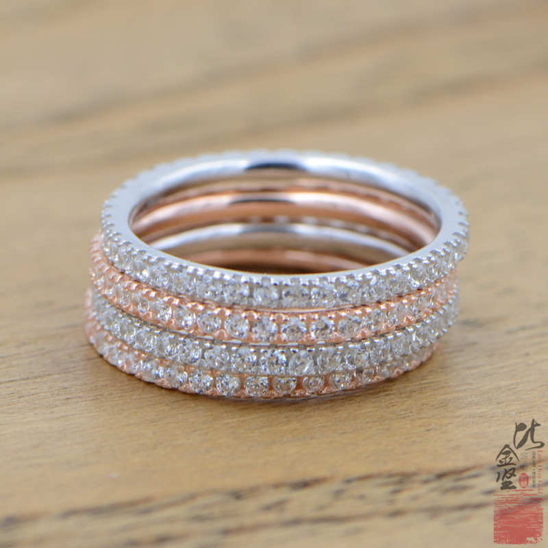 ZN Engagement-Ring Jewelry Crystal Party Silver-Color Women Zirconia with for Lady Gift