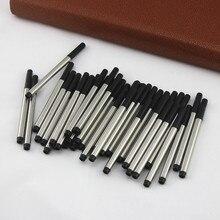 10 sztuk/zapewnić Mini Crocodile 9cm Rollerball Refill metalowy pręt czarny tusz 0.5mm długopisy wkłady szkolne materiały biurowe