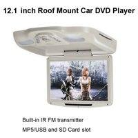 Авто 12,1 дюймов потолочный dvd плеер со встроенным ИК fm передатчик и MP5/USB карты и SD/MS/MMC слот