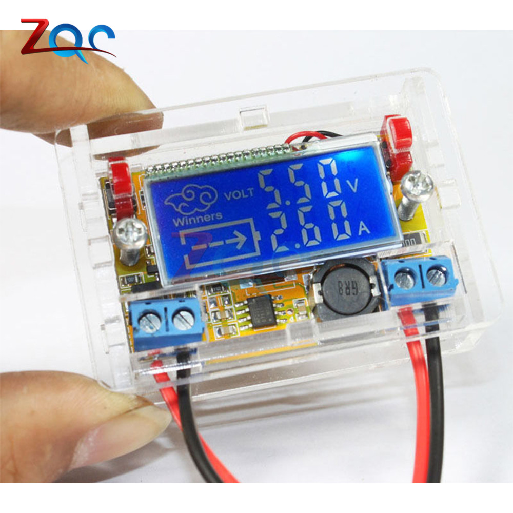 Adjustable Step-down Power Supply Module DC-DC 5-23V To 0-16.5V 3A Voltage Current LCD Display Step Down Buck Regulator + Case 10pcs lot mp2307dn lf z mp2307dn mp2307 3a 23v 340khz synchronous rectified step down converter