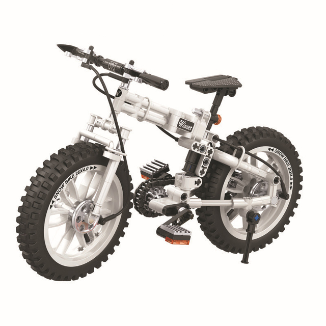 7072 Technology Technic folding bicycles Building Blocks Set Bricks Classic Model Kids Toys For Children Gift