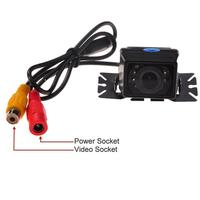 IR Infrared Light Night Vision Lens Angle HD Waterproof Car Rear View Camera Plate Support Color