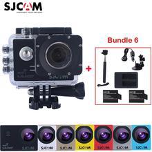 SJCAM sj5000 плюс Wi-Fi 30 м Водонепроницаемый Спорт действий Камера SJ Cam + 2 Батарея + двойной Зарядное устройство + Селфи придерживайтесь + автомобиля Зарядное устройство + присоске