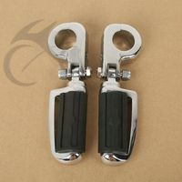 Universal 1 1 4 32mm Universal Engine Guards Foot Pegs Footrests With Clamps For Harley