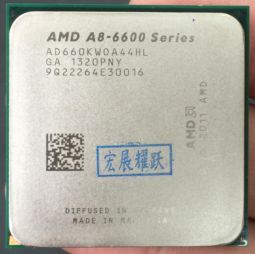 AMD A-Series APU X4  A8-6600K  A8 6600K  FM2 Quad-Core CPU  100% Working Properly Desktop Processor