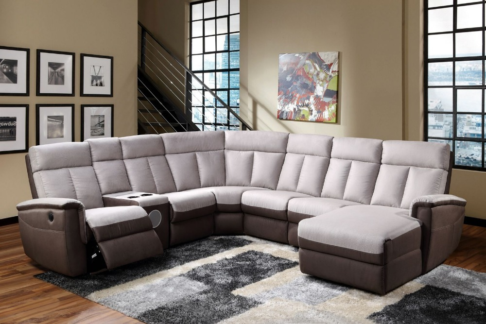 Newest Wholesale Living Room Electric / Manual Recliner Sofa With Cup  Holder Sectional Sofa YB626(