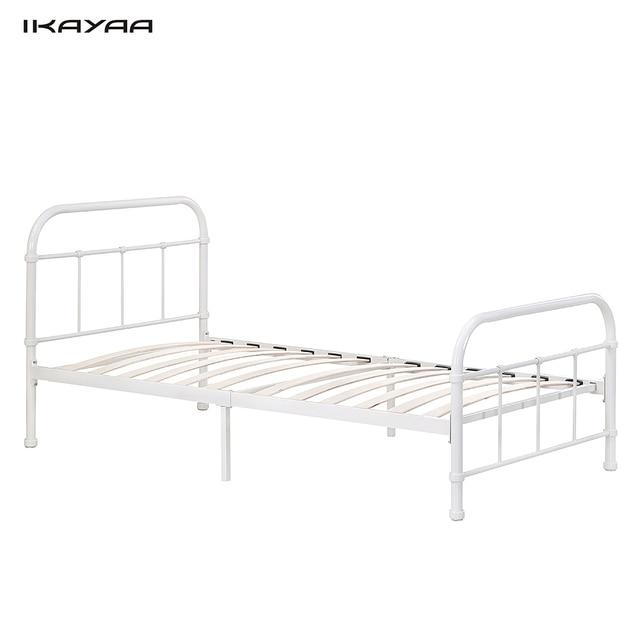 aliexpress koop ikayaa 90 190 cm metalen bed frame hout