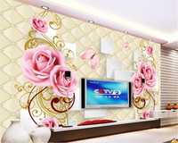 Photo Wallpaper Romantic Fashion European Soft Pack Butterfly Pattern Wallpapers For Living Room Papel De Parede