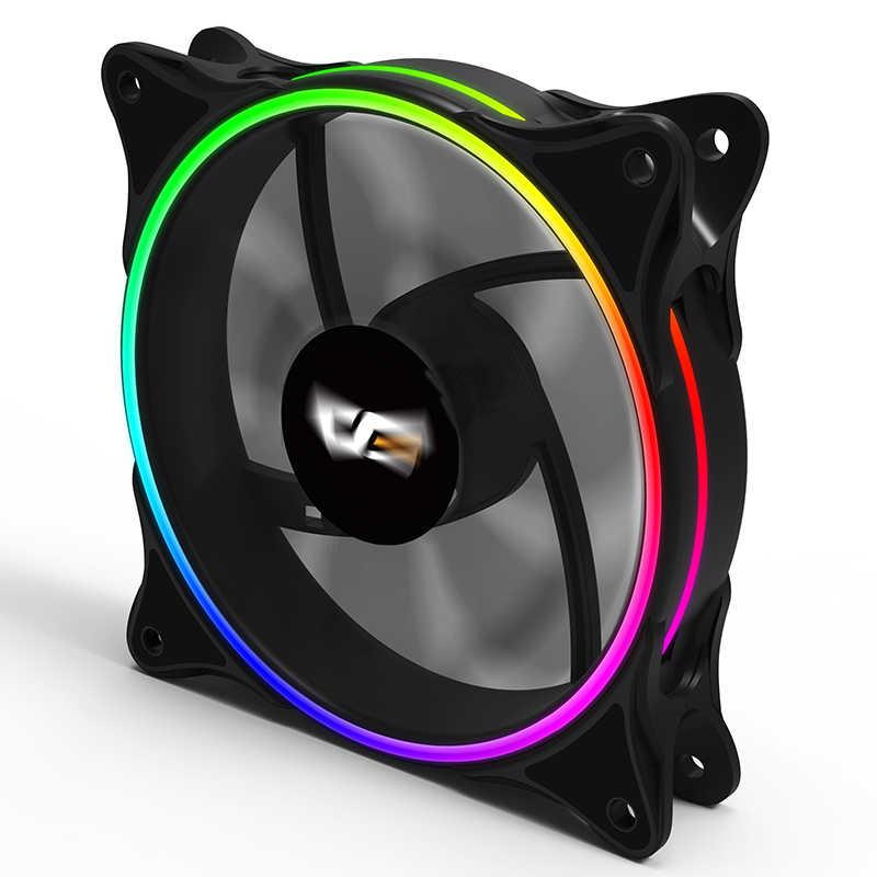 Aigo MR12 RGB Fan 3P-5vAURA Sync Komputer Case PC Cooling Fan LED 120 Mm Tenang + Remote IR Komputer Baru kipas Pendingin