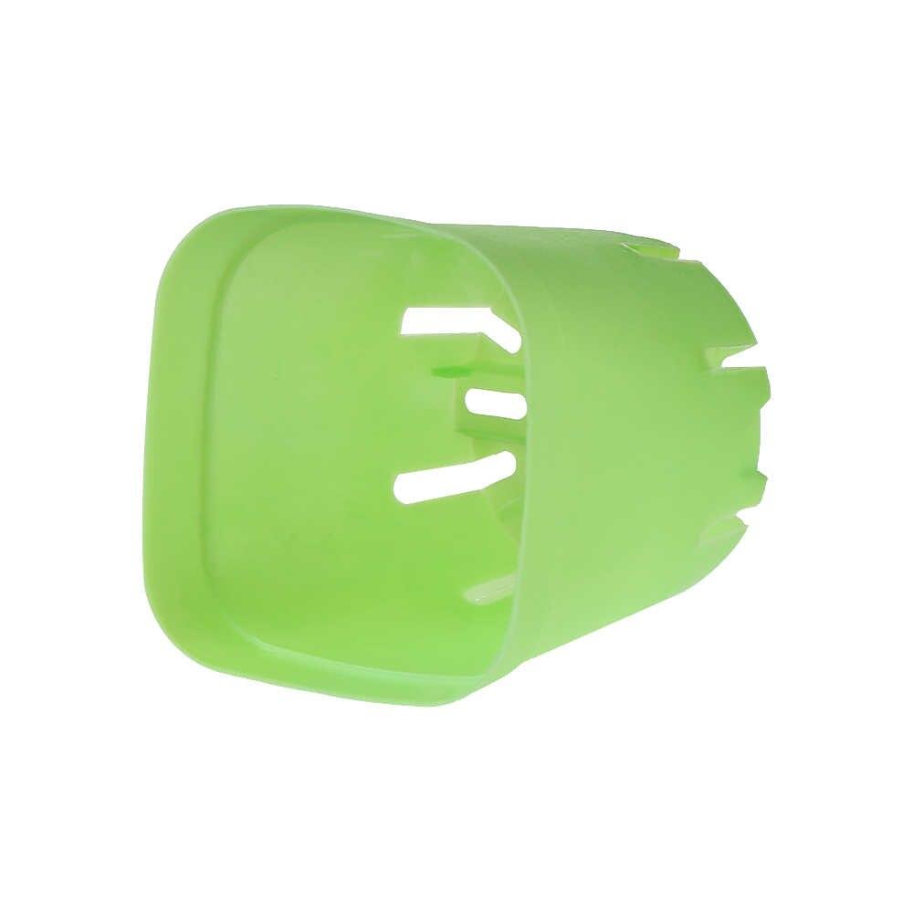 1PC ミニ正方形のプラスチック植物植木鉢ホームオフィスの装飾プランターカラフルなグリーン植木鉢トレイ色ランダム