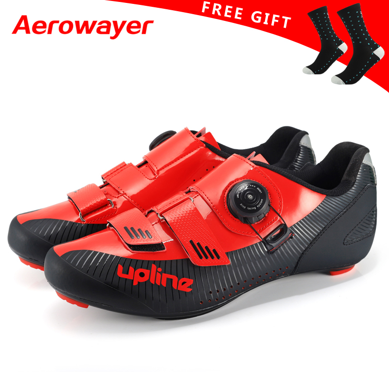 2019 new upline road cycling shoes winter road bike shoes men ultralight bicycle sneakers self locking