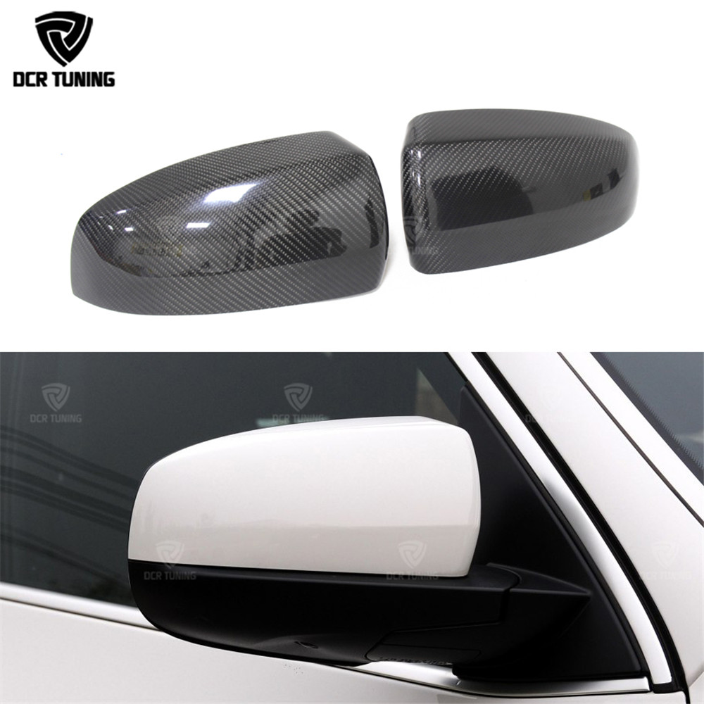 цена на For BMW X5 mirror X5 E70 X6 E71 Carbon Fiber Mirror Cover 2007 - 2013 E71 X6 Carbon Mirror rear side Caps