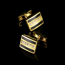 High Quality Luxury Shirt Cuff link for Men's Gifts Unique Wedding Gold Cufflinks For Mens Business Gift Suit Sleeve Buttons vintage sell high buy now stock market cufflinks for men shirt cuff buttons business sleeve nail steel brothers gift for friend