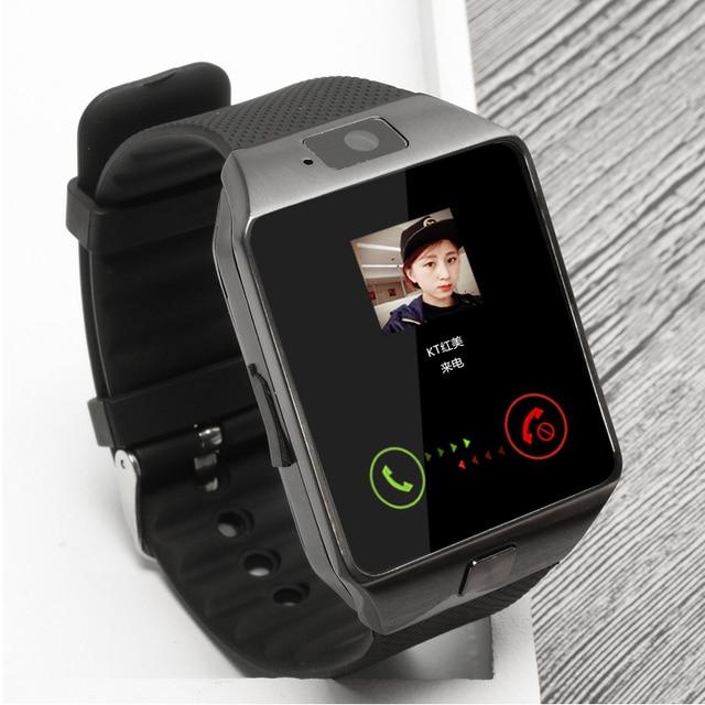 Reloj inteligente Bluetooth reloj de pulsera inteligente soporte para cámara de teléfono SIM TF GSM para teléfono Android iOS dz09 pk gt08 a1 hombres y las mujeres