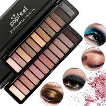 12 цвет женщин косметика Shimmer матовый крем для век тени для век макияж палитра Shimmer долговечны