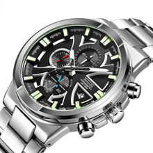 2019 New Fashion Men Watches Analog Quartz Watch 30M Waterproof Chronograph Sport Date Stainless Steel Wristwatches Montre Homme все цены