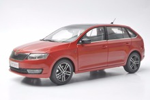 1:18 Diecast Model for Skoda Rapid Spaceback 2016 Red Alloy Toy Car Miniature Collection