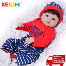 Wholesale Reborn KEIUMI Dolls 23 Full Silicone Vinyl Reborn Baby Boy Doll Lovely Present 57 cm For Kids Birthday Gifts