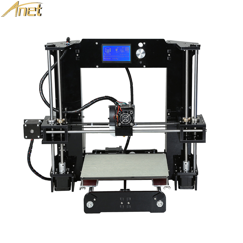 Anet A6 A8 normāla / automātiska līmeņa 3D printeru komplekts liela izmēra reproducēšanai Prusa i3 3D printeru komplekts DIY Impresora 3D ar PLA kvēldiegu Ziemassvētkos
