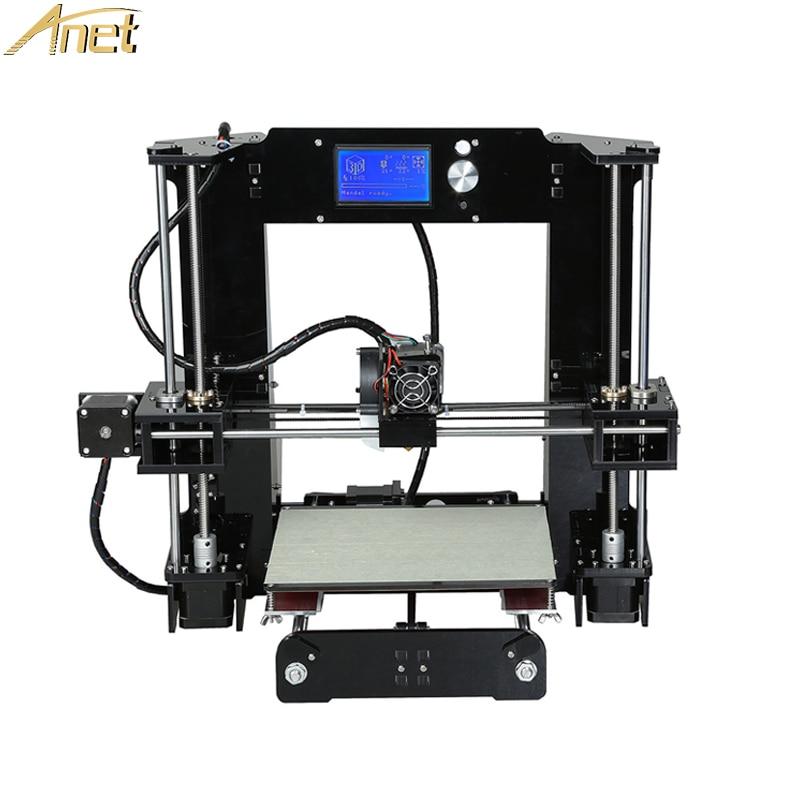 Anet A6 A8 Normaal / Auto niveau 3d-printerkit Groot formaat Reprap Prusa i3 3D-printerkit DIY Impresora 3D met PLA-filament Kerstmis