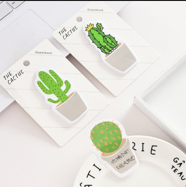 100 pcs creative stationery small fresh cactus convenience sticker special-shaped N times note paper and wholesale