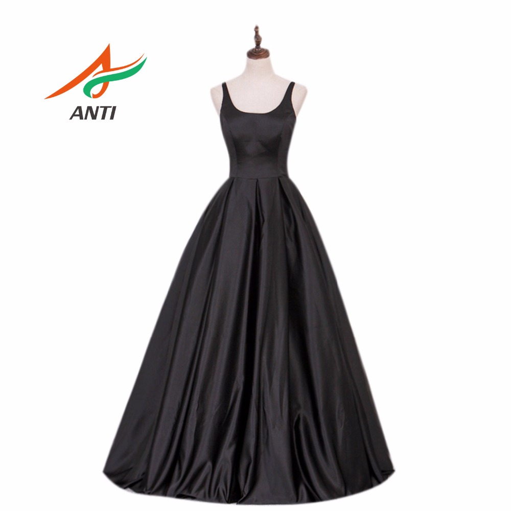 ANTI 고품질 A 라인 이브닝 드레스 긴 새틴 정장 - 특별한 날을위한 드레스