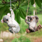 Cute Resin Simulation Koala for Home Gardening Decoration