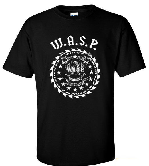 2018 Fashion Vintage W.A.S.P. 33 Years Heavy Metal Band Twisted Sister T-Shirt S M L Xl 2Xl Casual Short Sleeve Shirt Tee