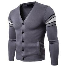 MIXCUBIC осень зима уникальные разноцветные трикотажные свитеры мужские повседневные тонкие кардиганы с v-образным вырезом свитера для мужчин, M-2XL