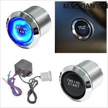 Универсальный автомобильный автоматический ключ зажигания двигателя светодиодный светильник кнопка стартера Переключатель питания пусковой механизм