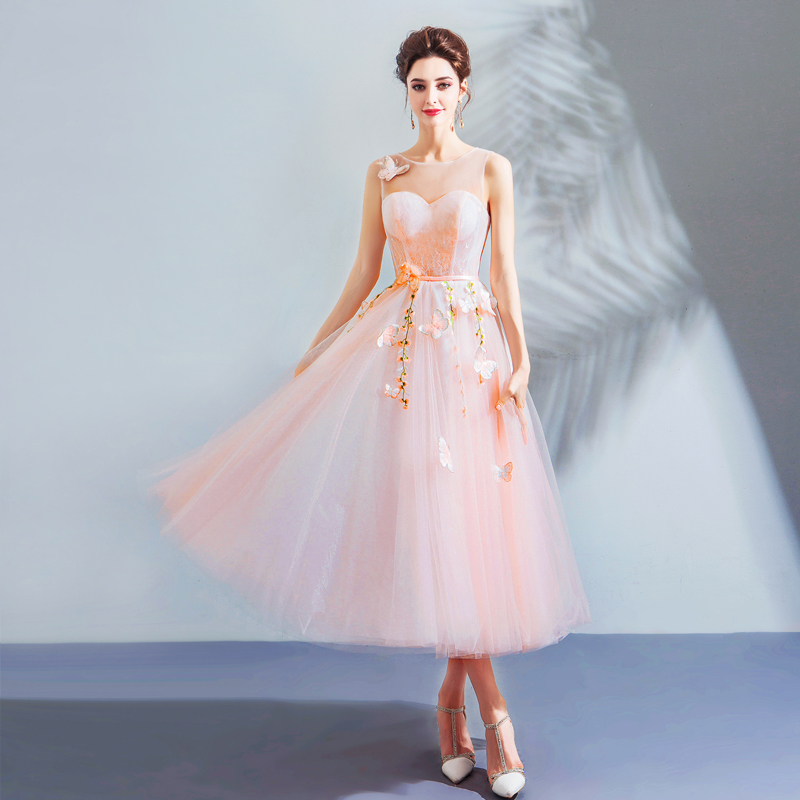 2018 new stock plus size women pregnant bridesmaid dresses wedding party A line  backless lace flower 1d9156e1b88c