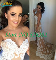 Appliqued Lace Hi-Lo Sweetheart Mermaid Bridesmaid Dresses Sexy Backless Sleeveless Beaded Court Train 2016 Prom Dresses