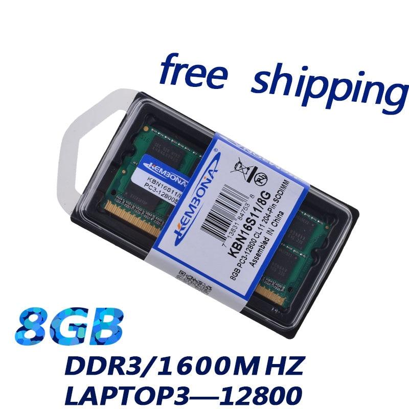 KEMBONA Sodimm Laptop Ram DDR3 With 2GB 4GB 8GB Memory Capacity 10