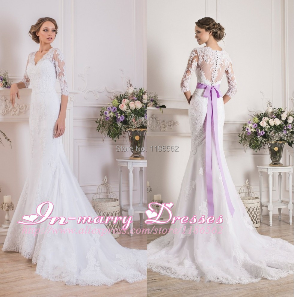 Purple And White Wedding Dresses With Sleeves - Wedding Dress Ideas