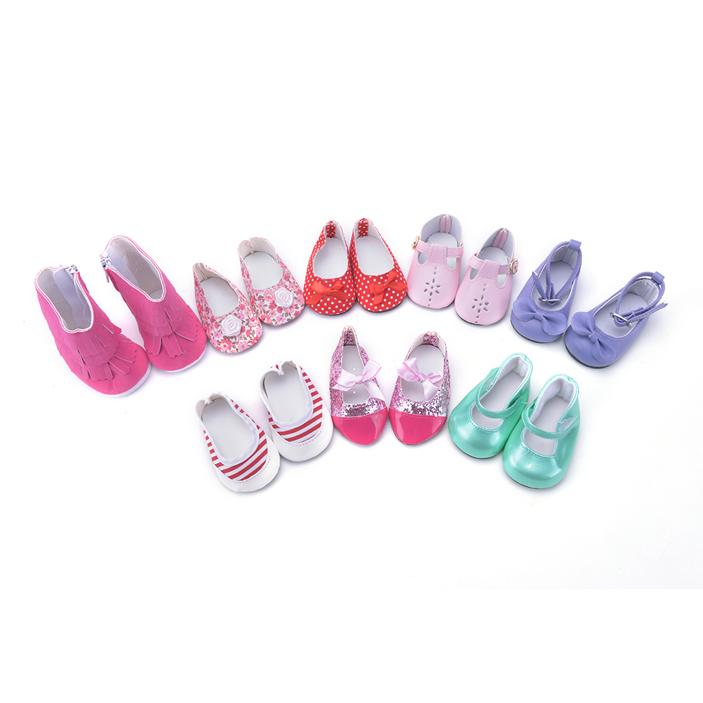 1pair Doll shoes fit for 18 inch American girl doll cute American girl girl accessories shoes