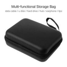 Pouch-Cover Powerbank Waterproof Case Storage-Bag Hard Zipper for Finger-Monkey Earphone