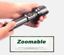 CREE XM-L2 LED X900 Tactical Flashlight 9000 Lumens Torches Zoomable Flash Light Lamp Lanterna Torch For 18650/26650 Battery