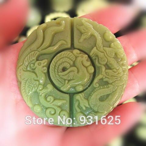 Fluorite naturelle pierre lumineuse sculpté Dragon chinois Phoenix chanceux pendentif corde collier lueur dans les pierres lumineuses sombres bijoux