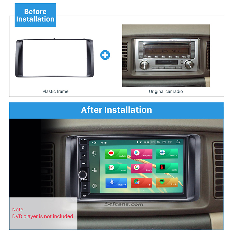 Image 5 - Seicane 178*100mm Double 2Din Car Autoradio Frame for 2003 2006 Toyota Corolla Stereo DVD Player Install Surround Trim Panel Kit-in Fascias from Automobiles & Motorcycles