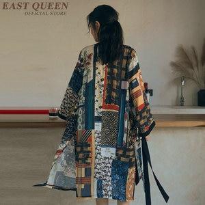 Image 1 - יפני קימונו מסורתי שמלת קוספליי נשי יאקאטה נשים haori יפן גיישה תלבושות אובי קימונו אישה 2019 FF1062
