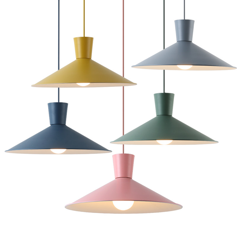 Modern minimalist Nordic macaron pendant lights colorful restaurant bar bedroom bedside coffee shop creative LED droplight modern bar restaurant table minimalist pendant lights nordic creative retro garden lamps lu812267