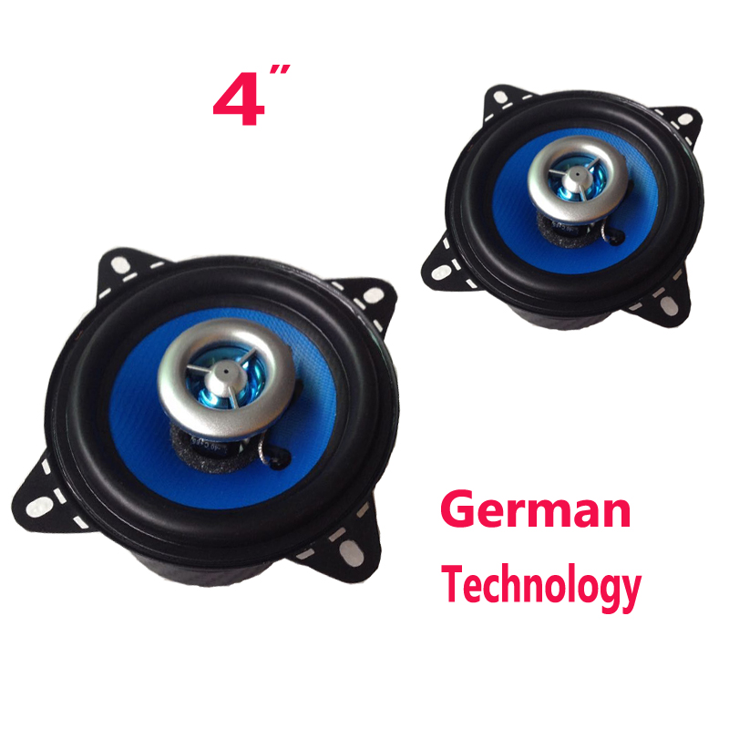 1 par 4 polegada coaxial carro alto falantes acusticos 4ohm 100 watts injecao azul tecnologia audio