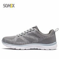 Somix Brand 2017 Mesh Breathable Running Shoes Promotion New Sneakers For Men Cheap Sport Sneaker Free