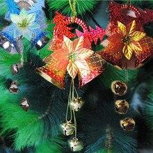 1 шт. недавно рождественские украшения листьев Белл Санта вечерние елка принадлежности ремесла Лидер продаж рождественские колокольчики вечерние поставки