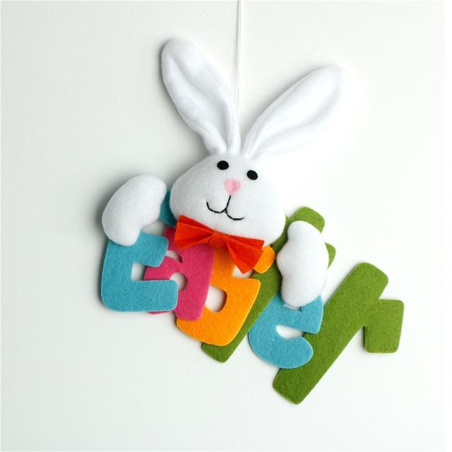 Fashion Rabbit Hanging Pendant Bunny Hanging Signs Spring Easter ...