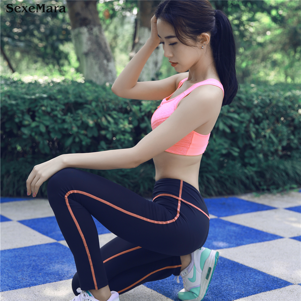 Mix and Match Zipper Bra+Pants 2018 Sports Wear Suit 2PCS Sexy Womens Gym  Fitness set Yoga Female modern gym suit for ladies on Aliexpress.com  29d2b14b9