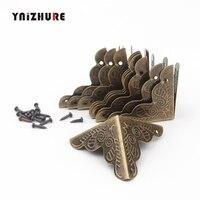 YNIZHURE 10 PCS Caso Bagagem Caixa Cantos Suportes de Canto Decorativos Para Móveis Triângulo Rattan Decorativa Esculpida|Suportes de canto| |  -