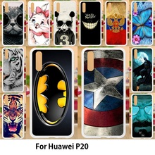 Anunob For huawei p20 Case Silicone Soft TPU Back Covers 5.84 Painting Batman Captain American Patterned Shells Bag